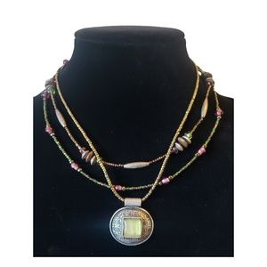 Chicos Multi Strand Necklace